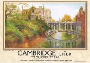 Cambridge University,  St. John's & Bridge of Sighs Landscape